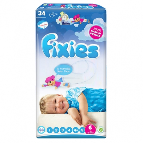 Fixies寶貝愛因斯坦長效型嬰兒尿布(XXL)6號 (2包裝)