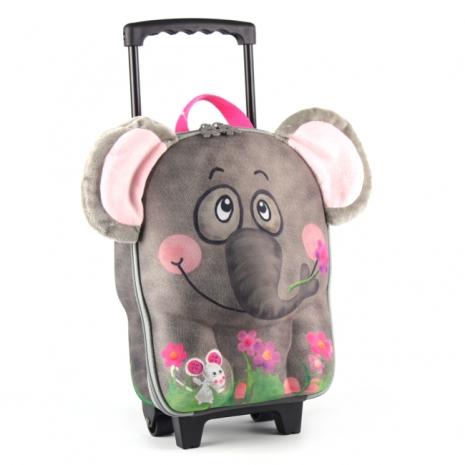 德國 okiedog 兒童3D動物造型系列-拉桿式行李箱 大象