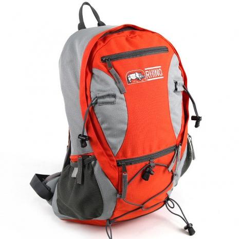 RHINO 犀牛透氣彈性鋼網架背包G520(20公升)-橘紅