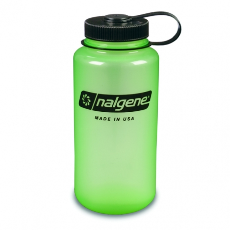 Nalgene 寬嘴水壼(1000cc) 發綠光