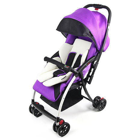 Yip-Baby 超輕量網眼透氣雙向推車-紫