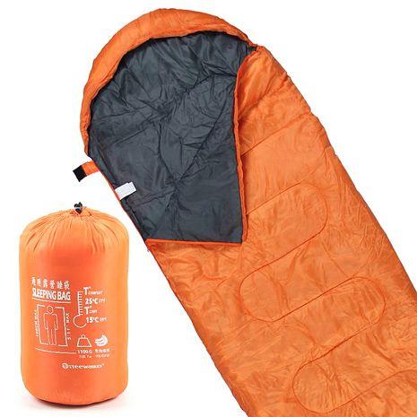 TreeWalker 通用露營睡袋-活力橘