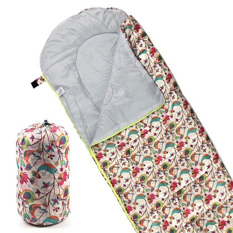 TreeWalker 高級柔軟舒適兒童捲筒睡袋(鳥語花香)