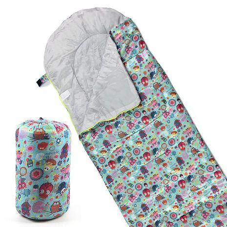 TreeWalker 高級柔軟舒適兒童捲筒睡袋(貓頭鷹)