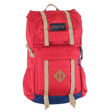 JanSport 休閒旅遊背包(JAVELINA)-紅
