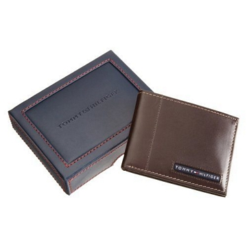 Tommy Hilfiger 男劍橋薄型棕色皮夾★預購-服飾‧鞋包‧內著‧手錶-myfone購物