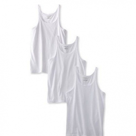 【EMPORIO ARMANI】2013男時尚標誌款白色背心3件組(預購)L