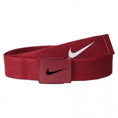 【Nike】2015金屬扣旋風標誌棉軟織帶紅色皮帶★預購