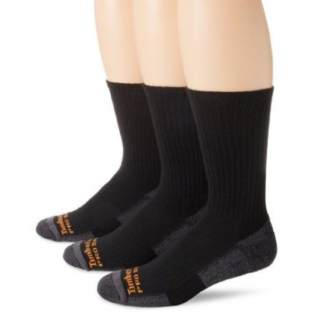 Timberland 2015男時尚中統墊層黑色襪子3入組 (預購)