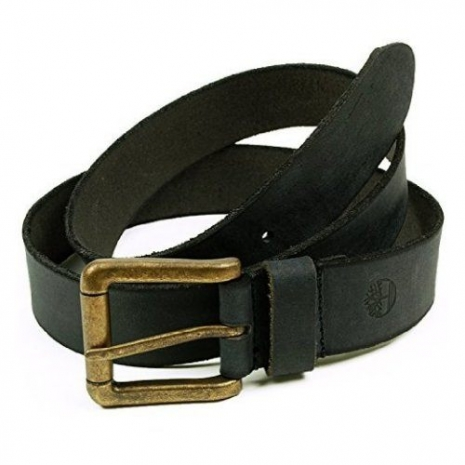 Timberland 2015男時尚仿舊風格銅扣黑色皮帶★預購