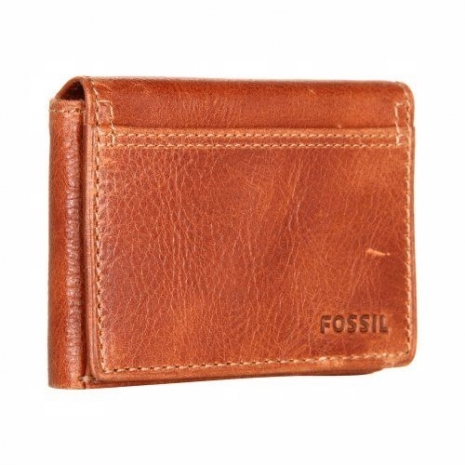 【Fossil】2014男時尚魅力粗獷白蘭地棕色皮夾★預購-服飾‧鞋包‧內著‧手錶-myfone購物