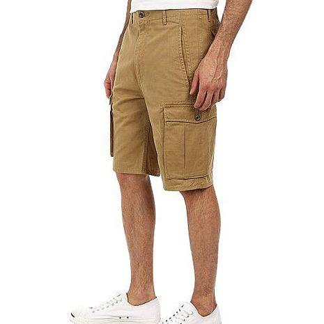 【Levi's】2015男時尚休閒多口袋深卡其色短褲★預購