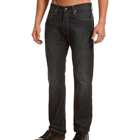 【Levi's】501經典鈕扣DrainP低腰合身黑色牛仔褲★預購