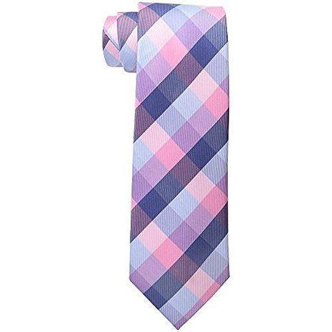 【Tommy Hilfiger】2015男時尚粉紫寶藍斜格紋領帶★預購