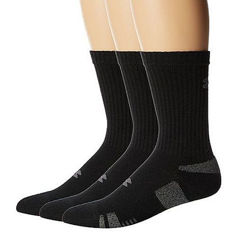 Under Armour 2016男時尚HeatGear黑色中筒運動襪3件組★預購-服飾‧鞋包‧內著‧手錶-myfone購物