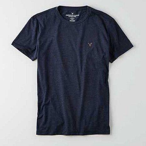American Eagle 2016男時尚小老鷹刺繡寶藍色圓領短袖ㄒ恤預購