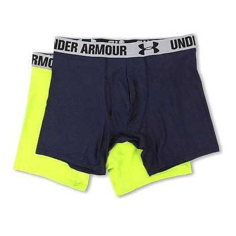 Under Armour 2016男時尚寶藍霓綠色四角修飾內褲2件組★預購