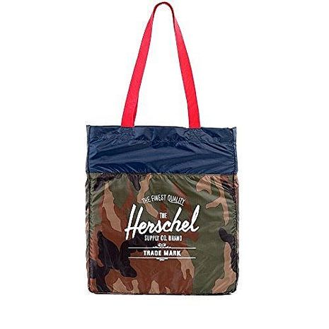 【Herschel】2016時尚綠迷彩色可壓縮手提包★預購