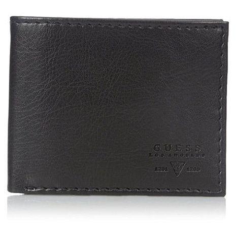 【Guess 】2016男時尚Sedona內拉鍊袋黑色皮夾★預購