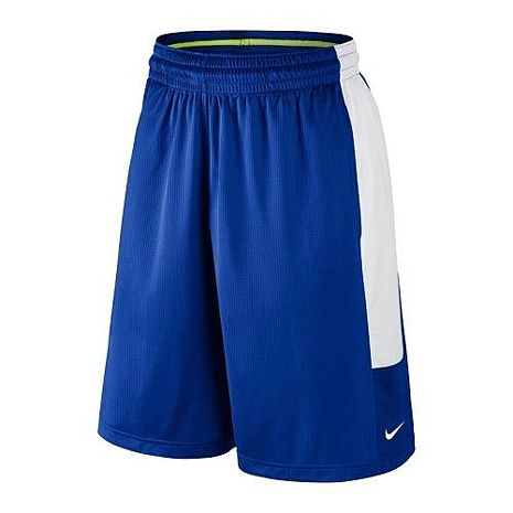 【Nike】2016男時尚Cash籃球皇家藍白色休閒運動短褲★預購L