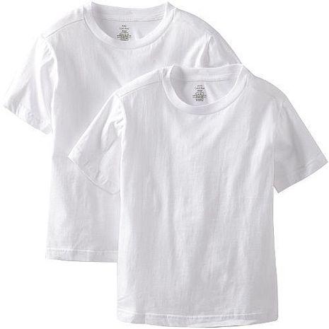 【CK】2016男孩學生純棉白色圓領短袖內衣2件組(預購)