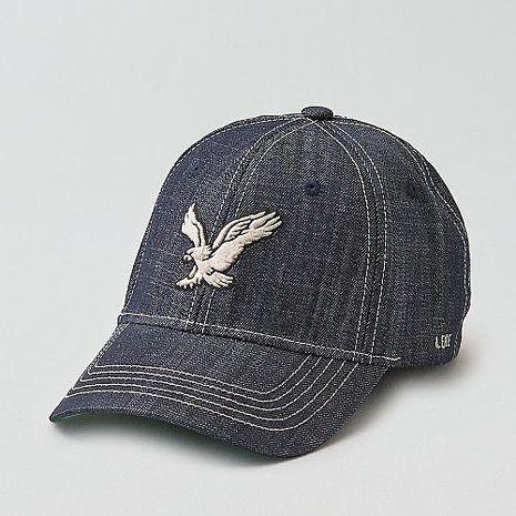 【American Eagle 】2016男時尚牛仔布大鷹標靛藍色帽子★預購-服飾‧鞋包‧內著‧手錶-myfone購物