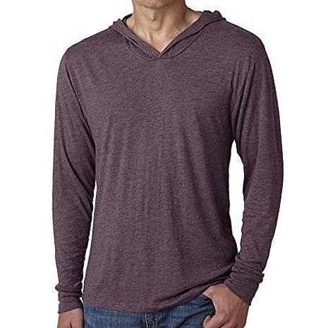 美國國民 2017男時尚古紫色混紡針織長袖帽ㄒ【預購】