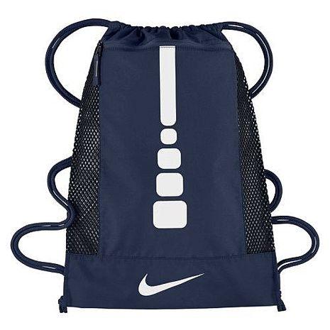【Nike】2017時尚Hoops大健身深藍色束口後背包 ★預購