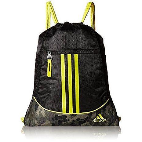 Adidas 2017時尚聯盟黑黃色抽繩後背包★預購
