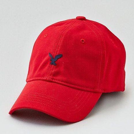 【American Eagle 】2017男時尚小老鷹刺繡紅色棒球帽 ★預購S/M