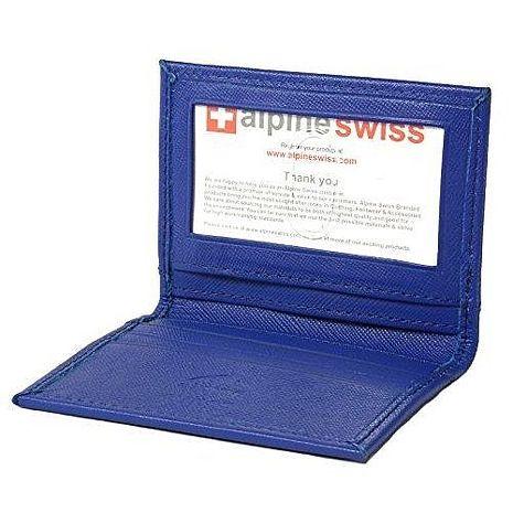 【Alpine Swiss】2017瑞士薄型悠遊卡名片鈷藍色皮夾★預購