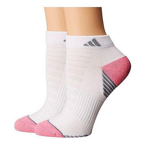 【Adidas】2017女Superlite低切白粉色色塊短襪2入組★預購