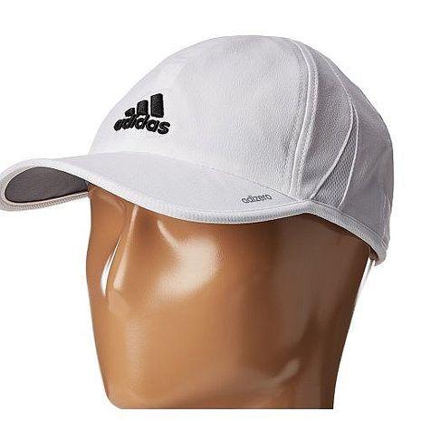 Adidas 2018男時尚Adizero輕盈休閒白色帽子★預購