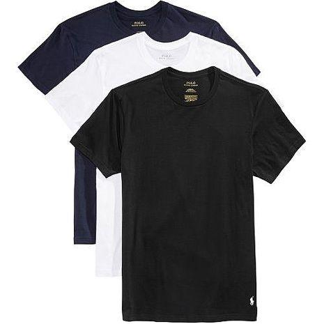 Ralph Lauren 2018男時尚馬球藍白黑短袖圓領內衣混搭3件組(預購)