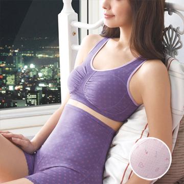 【華歌爾】睡眠胸罩印花款 M胸罩(玫瑰粉)