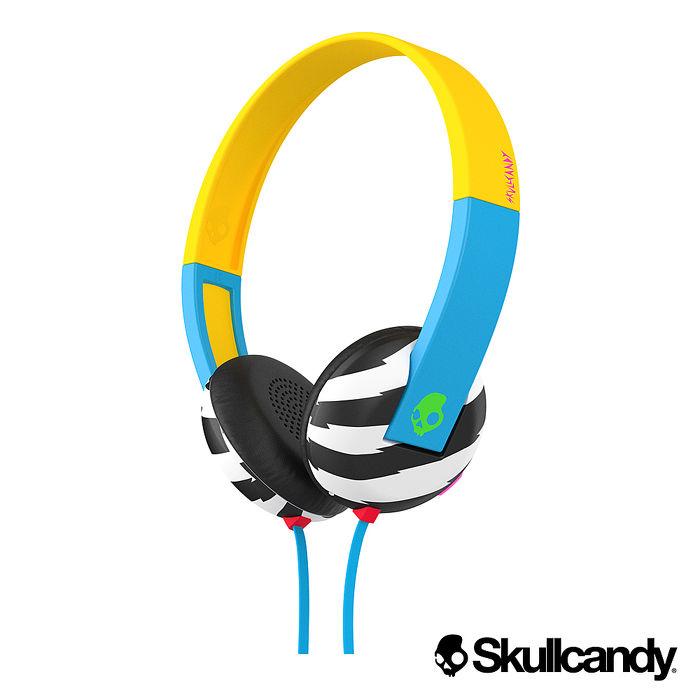 Skullcandy 骷髏糖 Uproar阿波羅 小耳罩式耳機-藍黃斑馬色(公司貨)