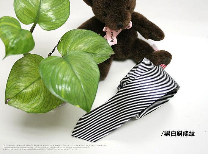 【男人幫】Y0074*【雅痞細斜紋拉鍊式領帶】都會時尚/型男必備款
