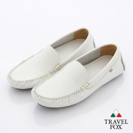 Travel Fox(女) 旅狐休閒鞋 NEWYORK簡約休閒鞋 - 權力白