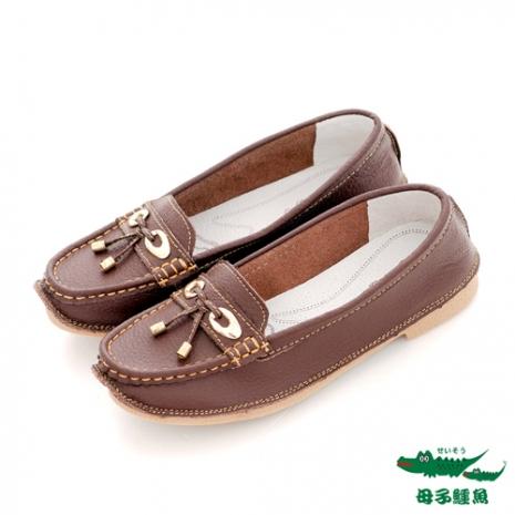 母子鱷魚(女)金屬墜子娃娃休閒鞋 - 咖-服飾‧鞋包‧內著‧手錶-myfone購物