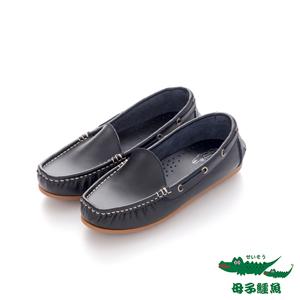 母子鱷魚(女)★ 自在的日子 直套帆船鞋 - 平實黑平實黑 - 25