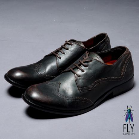 Fly London(男)★深度皇家 牛皮拋面英式皮鞋 - 品味咖