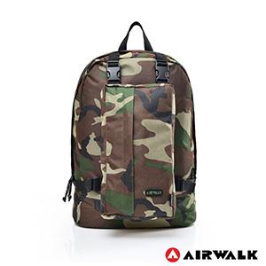 AIRWALK - 個性way可拆式母子後背包 - 綠迷彩