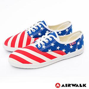 AIRWALK(女) - I LOVE U.S.A美國旗子青春帆布鞋 - 紅藍白紅藍白 - 7.5