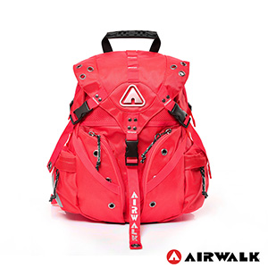 AIRWALK - Life is color 繽紛生活三叉扣彩色迷你後背包 - 繽紛紅-服飾‧鞋包‧內著‧手錶-myfone購物