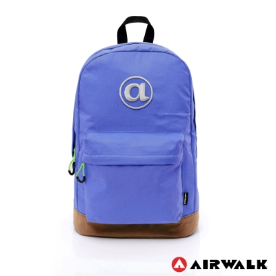 AIRWALK - 頑色糖果系列 純色筆電後背包 - 深藍