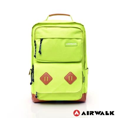 AIRWALK - 韓系耀眼系列筆電後背包 - 螢黃色