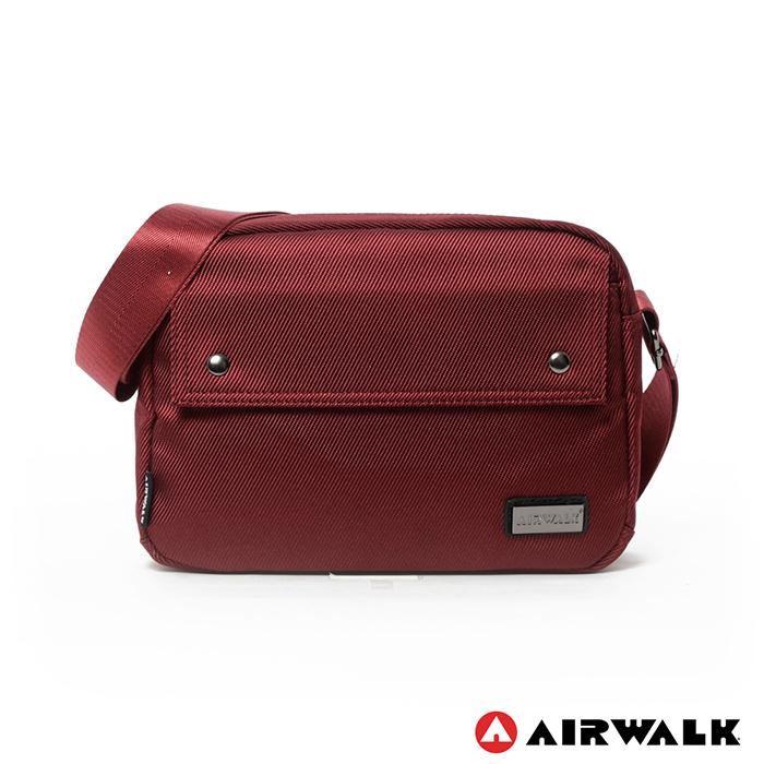 AIRWALK - 袋隨走 時空漫步系列 雙口袋側背包(小) - 紅