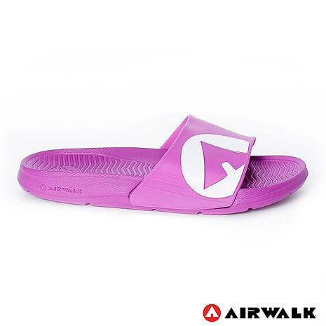 AIRWALK(男) - 輕盈舒適中性EVA休閒多功能室內外拖鞋 - 中紫