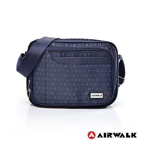 AIRWALK - 方塊斜側背包 邁阿密圖騰系列 - 方藍