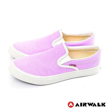 AIRWALK(女) - 活力滿分 馬卡龍調和色系 帆布鞋 - 馬卡龍淺紫